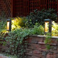 Wholesale LED Landscape post light waterproof IP54 Aluminum Alloy outdoor Garden lawn pillar light post lamp bollard light CM CM AC110V AC220V