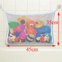 Wholesale Large Baby Tub - Wholesale- Baby Kids Children Bath Tub Toys Bag Hanging Organizer Storage Large Bag