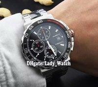 Wholesale Chronograph Watch Cheap - Super Clone Luxury Brand Cheap New F1 CALIBRE16 44MM CAU2011.BA0873 Black Dial Quartz Chronograph Mens Watch Stainless Steel Gents Watches