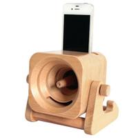 Wholesale Mobile Phone Handset Speaker - 2017 Creative Wooden Sound speaker ,Handset Amplifier Real Mobile Phone Holder Stand Mount,Wireless Speaker Subwoofer