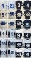 Wholesale Football Mix - Cheap 4 Prescott 21 Elliott 88 Bryant 82 Witten 9 Romo 50 Lee Blue White Thanksgiving Throwback Embroidered Men Women Youth Kids Mix Order