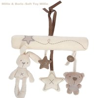 Creativo Infanti Mobiles Hanging Bed Baby Rattle Rabbit Music Morbido peluche Doll Unisex Kids Toy Giocattolo carino per 13-24 mesi