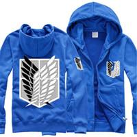 flügel für kostüme großhandel-Malidaike Anime Attack auf Titan Hoodie Sweatershirt Mantel Free Wings Untersuchung Corps Cosplay Kostüm Unisex Größe