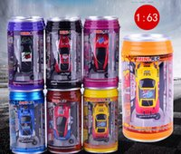 Wholesale Micro Electric Car Toy - RC Cars Mini Coke Can RC Toys Micro Racing Car Romote Control Radio Hobbies Vehicles Christmas Popular Gift Toys for kids Wholesale