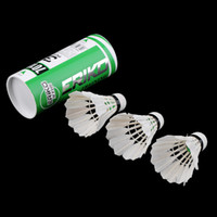 Wholesale Product Entertainment - 3 x Training White duck feathers Badminton Shuttlecocks Birdies Ball Game Sport Entertainment Product Badminton Balls with Can