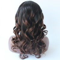 Wholesale Straight Lace Front Two Tone - T1B30 Ombre Mongolian Body Wave Lace Wig Mongolian Human Hair Glueless Full Lace Wigs 8A Full Lace Human Hair Wigs Two Tone