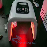 Wholesale Portable Whitening Light - portable omega light led light therapy 4 colors Red Blue GreenYellow Photontherapy Lamp Machine Skin Rejuven acne removal
