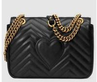 Wholesale cotton shoulder bags - Hot Marmont shoulder bags women luxury chain crossbody bag handbags famous designer purse high quality female message bag #75