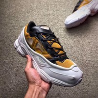 Wholesale R Shoes - RELEASE RAF SIMONS CONSORTIUM OZWEEGO 3 OZ III RUNNING SHOES WITH R LOGO FOR MEN WOMEN 2018 WHITE YELLOW BZROWN SNEAKERS AUTHENTIC QUALITY