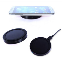 Wholesale Iphone Wireless Charge Kit - Hotselling Universal Qi Wireless Power Charging Charger Pad kit round shape and light For iPhone and for Samsung with Retail Box