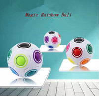 Wholesale Games Explore - Rainbow Ball Magic Cube Speed Football Fun Creative Spherical Puzzles Kids Educational Learning Toy game for Children Adult Gifts