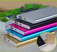 Wholesale Tablet Pc Fedex - FEDEX fast Ultra thin slim powerbank 8800mah Ultrathin power bank for mobile phone Tablet PC External battery
