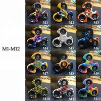 Wholesale Mini Windmill Toys - Windmill Tri Fidget Spin Gyro Style Camouflage Fidget Spinners For decompression Finger Toy Football Leopard Rainbow Wholesale 2107315