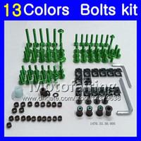 Fairing bolts full screw kit For SUZUKI GSXR750 96 97 98 00 GSXR600 GSXR 600 750 1996 1997 1998 2000 Body Nuts screws nut bolt kit 13Colors