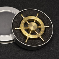 Wholesale Iron Pirate - Round metal Fidget Spinner HandSpinner Pirate Ship Fingers iron Man Hand Fidget Spinner EDC Triangle Hexagon Steering Wheel Spinner