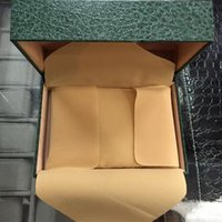 Wholesale Wooden Ship Box - Top Luxury Rol Green With Original Box Wooden Watch Box Papers Card Wallet Boxes&Cases Wristwatch Green Box free shipping