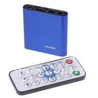 Wholesale Asf Wmv - Wholesale- Free Shipping!JEDX Mini Full HD 1080P HDD Media Player MKV H.264 DIVX DTS MP3 DVD AVI SD USB with 12-24V Car adapter AV Cable