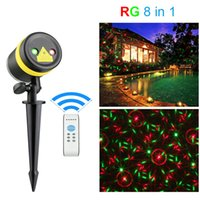 Wholesale outdoor laser lights online - Lawn Lights Illuminated Outdoor Decoration Remote Controllable RG Laser Outdoor Garden Landscape Light Red Green laser light
