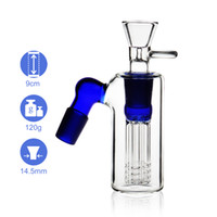 REANICE Accessories Glass Straight 14.5mm 18.8mm joint size with Multi pipeline filter element bule