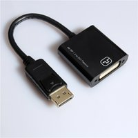 Wholesale Multiple Monitors Adapter - 2017 Newest 4K DisplayPort DP Male to DVI Female Video Audio HDTV Adapter Converter Multiple Monitor
