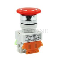 Wholesale Emergency Mushroom Push Button Switch - Wholesale- OOTDTY New Mushroom Emergency Stop Switch PushButton Push Button