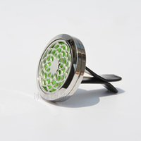 Wholesale Chinese Clip Flowers - Car Aromatherapy Clip Ornaments Odor Removal Perfume Clamp Stainless Steel Flower Hollowed Out Essential Oil Diffuser Locket Clips 15bx A