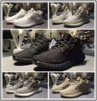 Wholesale White Pirate Top - [double box] 2017 Best 350 boost Sneakers Training Shoes Kanye west 350 Oxford Tan White Turtle Dove Moonrock Pirate Black Top Quality