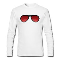 Nuova maglietta a maniche lunghe in autunno Real-Sun-glass Real on T-Shirt Maschile Crew Neck Sport Tee Shirt