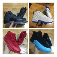 Wholesale Body Game - Original 2017 retro 12 XII basketball shoes Men ovo white Game GS Barons wolf grey Gym red taxi gamma french blue Sports sneakers