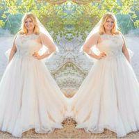 Wholesale Elegant Top Corset Dresses - Elegant 2017 Lace Top Tulle Skirt Plus Size Wedding Dresses Modest Jewel Corset Back Beaded Ruched Long Bridal Gowns Custom Made EN9085