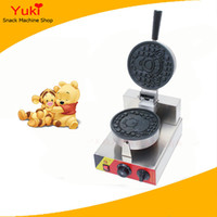 220V/110v 1200W CE New commercial waffle machine grilled muffin machine stainless steel waffle maker cartoon character face waffle making machine custom plate