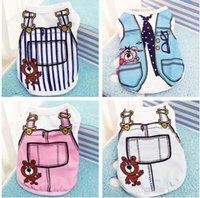 Wholesale Quality Dog Coats - Pet Clothes High Quality Comfortable Cat Products Lovely Dog Apparel Pets Clothe Summer Cute Stripe Supplies Dogs Vest 5 5gg I R