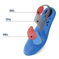 Wholesale gel cushion for heels - Silicone Gel Active Insoles Basketball Stable Heel Cushioning Feet Care Anti-friction Memory Insole Relieve Foot Pain for Men Woman 0613056