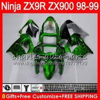 ingrosso kawasaki zx9r 1998 rivestimento verde-8Gifts 23Colors Per KAWASAKI NINJA ZX900 ZX9R 98 99 00 01 900CC 48HM22 nero verde ZX-9R ZX 9 R ZX900C ZX 9R 1998 1999 2000 2001 Kit carenatura
