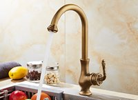 Wholesale Bathroom Faucets Antique Bronze Finish - Antique Bronze Finish Kitchen Faucets Bathroom Tap Mixer Single Hand Hot And Cold Wash Basin Tap
