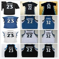 gros gros n achat en gros de-Livraison Gratuite Gratuite Vente en gros Hommes Hommes Hommes Hommes Hommes Hommes N ° 21 Jimmy Butler Blanc Noir Noir 22 Andrew Wiggins 32 Maillots Karl Anthony Towns Basketball