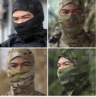 Wholesale Tactical Face Coverings - Multicam Balaclava Tactical Airsoft Hunting Outdoor Protection Neck Cap Hat Cover Military Motorcycle Ski Cycling Full Face Mask
