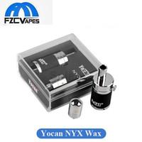 Wholesale Metal Taste - Authentic Yocan NYX Vaporizer QDC Technology Wax Tank with Dual Quartz Coil Vaporizer fit 15W-25W Devices Huge Vapor Purest Taste Atomizer