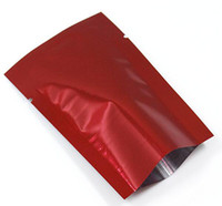sellado al vacío bolsas de mylar almacenamiento de alimentos al por mayor-500 Unids / lote Top Abierto Bolsa de Papel de Aluminio Embalaje Rojo Sello Calor Té Snack Food Mylar Embalaje Bolsa de Café Bolsas de Almacenamiento