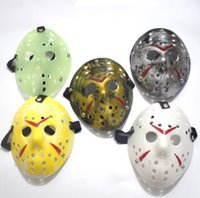 Wholesale Jason Voorhees Face - Halloween Cosplay Costume Porous Mask Jason Voorhees Friday The 13th Horror Movie Hockey Full Face Mask Party Mask 100pcs