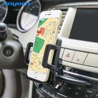 telefon-armaturenbretthalter großhandel-Hohe Qualität 360 Grad Rotationg Auto CD Dash Slot Handy Ständer Halter Für Samsung S4 S5 S6 Rand Für iPhone Auto Halterung Stehen