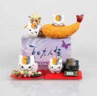Wholesale Nyanko Model - Cute model Anime Natsume Yuujinchou Nyanko Sensei figures Lovely Cat 4pcs set Dolls Collection kids toys with box T7119
