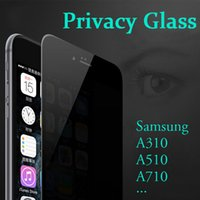 Wholesale Tempered Glass For Zenfone - Privacy Tempered Glass For Samsung A3 A5 A7 2016 2017 A510 A710 G530 I9082 ASUS ZenFone 5 ZenFone5 Screen Protector Anti-Spy Paper Package