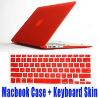 Wholesale Macbook Pro Keyboard Cover White - Matte Hard Macbook Case + Keyboard Skin Cover Film Protective Case for MacBook Air retina Pro 11 12 13 15 inch