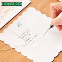 Wholesale cute korean paper envelope - Wholesale- 4 letters + 2 envelopes Cute cartoon rabbit animal Style Vintage Paper Envelope For Letter Paper Postcards Korean Stationery