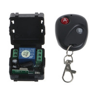 Wholesale 433mhz Remote Relay - Wholesale- DC 12V relay 1CH 433MHz wireless RF Remote Control Switch Transmitter + Receiver