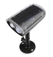 Wholesale 3w Solar Panel - 3W Solar Powered Panel LED SpotLight PIR Motion Sensor Light Outdoor Garden Home Garage Emergency Lamp Security Street Light