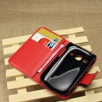 Wholesale Case Cover Fame - New Arrival High Quality Luxury Leather Flip Case for Samsung Galaxy Fame S6810 6810 Phone with Card Slots Phone case Cover