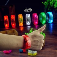 Wholesale New Voice Activated Sound Control Led Flashing Bracelet Bangle Wristband for Night Club Activity Party Bar Disco