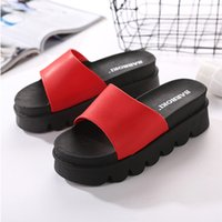 Wholesale China Red Bottom Shoes - Slipper female soft bottom beach slides spring summer shoes thick wholesale fashion high hees slipper high quality china cheap
